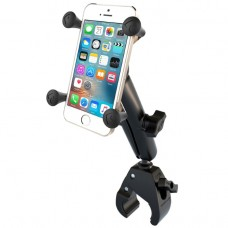 Small Tough-Claw™ Base with Long Double Socket Arm and Universal X-Grip® Cell/iPhone Holder